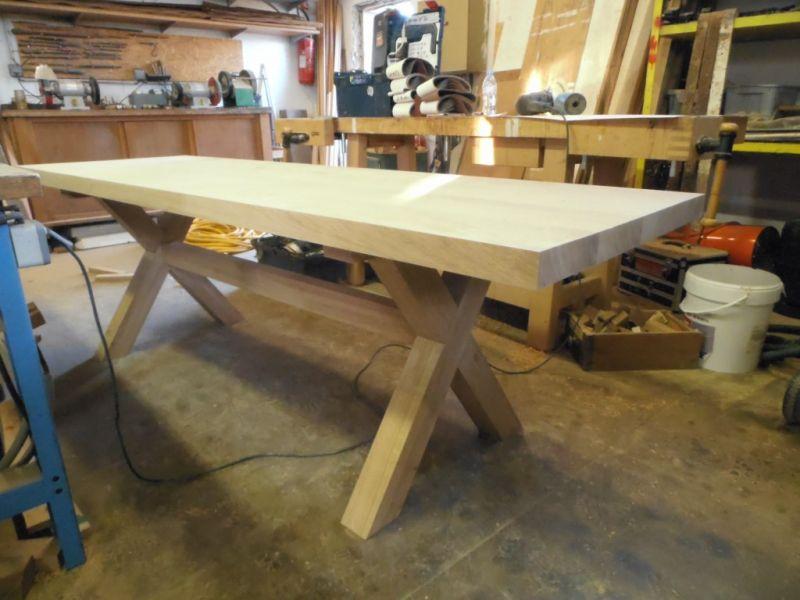 Fabrication sur mesure de table de salle manger en bois a aix en provence ch ne massif - Fabrication table bois ...